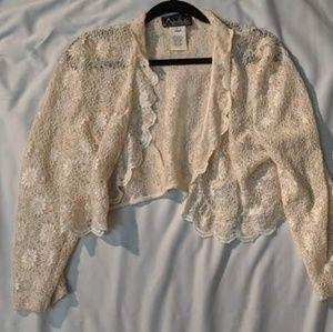 Cream Lace Bolero/Cardigan